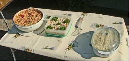 Salade-schalen leeg?