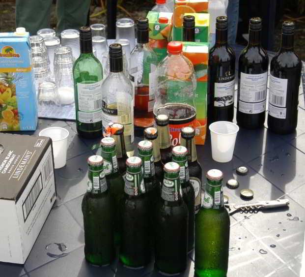 hoeveelheid drank